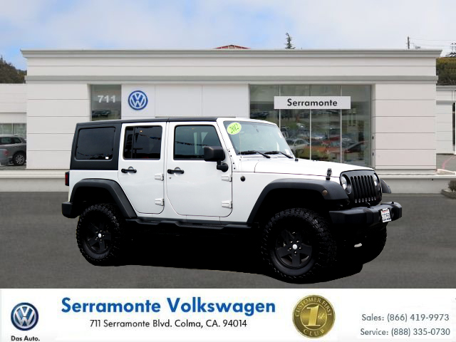 2012 JEEP WRANGLER 4D silver v6 36 liter automatic california car no reasonable offer refused