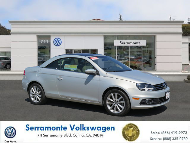 2012 VOLKSWAGEN EOS 20T HARDTOP silver 20 4 cyl automatic must see  well maintained  certif