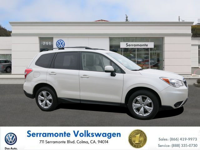 2014 SUBARU FORESTER FORESTER white 4-cyl pzev 25 liter automatic power windows  tilt wheel