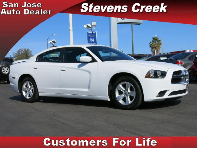 2014 DODGE CHARGER SXT white 36l v6 24v vvt automatic folding side mirrors  power windows  t