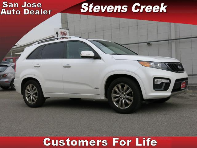 2013 KIA SORENTO SX SPORT UTILITY white v6 35 liter automatic folding side mirrors  leather