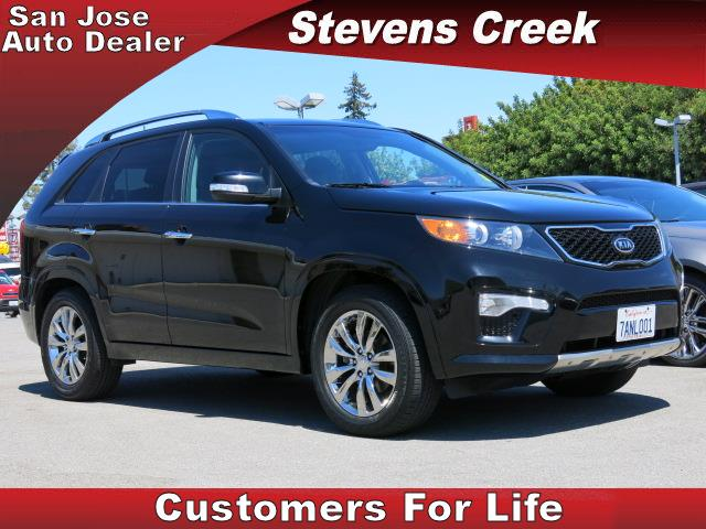 2012 KIA SORENTO SX SPORT UTILITY black 35l v6 automatic leather  power windows  tilt wheel